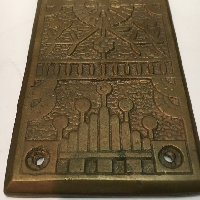 Vintage Door Push Plate For Sale In Houston - Image 6 of 8