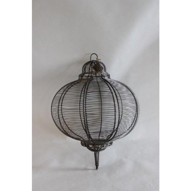 West Elm Circular Hanging Lantern - Image 2 of 8