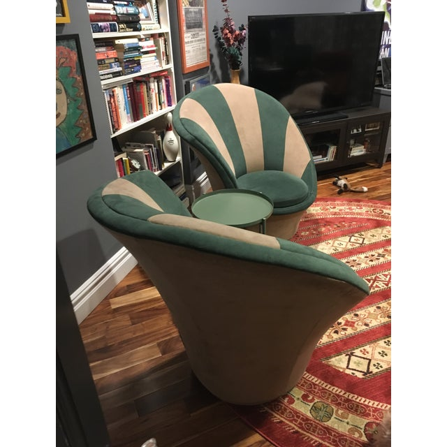 Vladimir Kagan for Weiman Vintage 20th Century Swivel Chairs - a Pair For Sale - Image 10 of 12