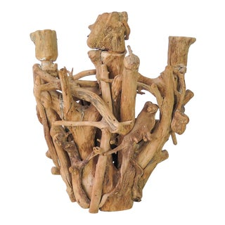 Mid 20th Century Driftwood Candelabra For Sale