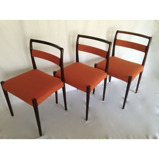 Mid-Century Rosewood Dining Chairs - Set of 8 - Image 5 of 10