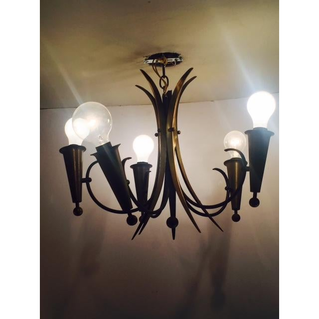 French Harlequin-Style French Chandelier For Sale - Image 3 of 6