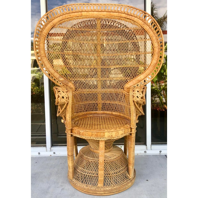 Vintage Rattan Peacock Chair For Sale - Image 11 of 11