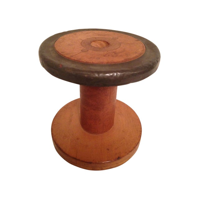 Vintage Vermont 1940 Industrial Wooden Spool - Image 1 of 6