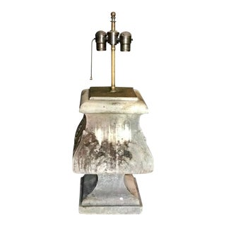 Italian 19th C. Stone Architectural Table Lamp For Sale