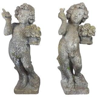 20th Century Italian Neoclassical Garden Statues Set, Garden Ornament For Sale