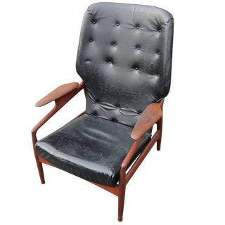 Vintage Reclining Lounge Chair by John Bone Denmark For Sale