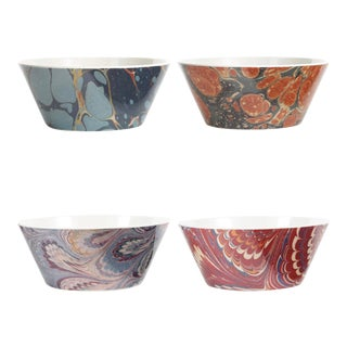 Library Marble Bowls - Set of 4 For Sale