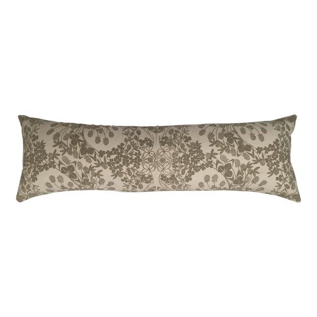 Original Folly Cove Designers Hand Block Printed Clover Pillow - Image 1 of 9