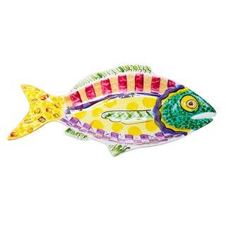Vicki Carroll Pottery Fish Platter / Bowl For Sale