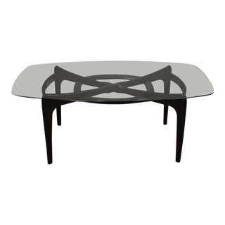 Adrian Pearsall Black Lacquer Dining Table