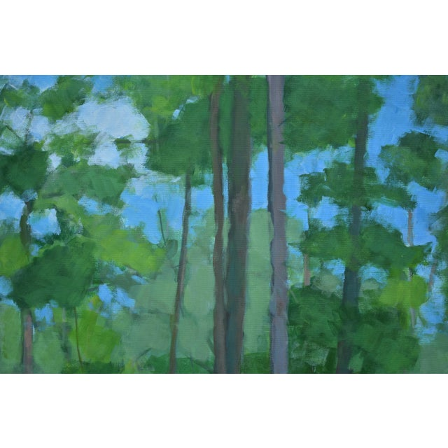 "Large Painting ""At the Edge of the Woods"" by Stephen Remick For Sale In Providence - Image 6 of 13"