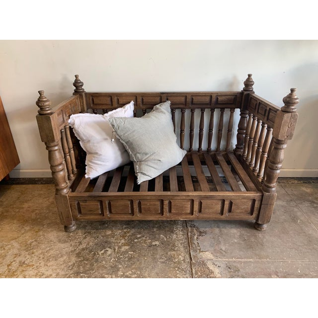 Traditional Early 20th Century European Wood Daybed Frame For Sale - Image 3 of 8