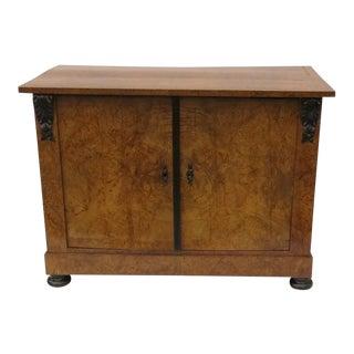 19th Century Birch Biedermeier Two Door Cabinet For Sale