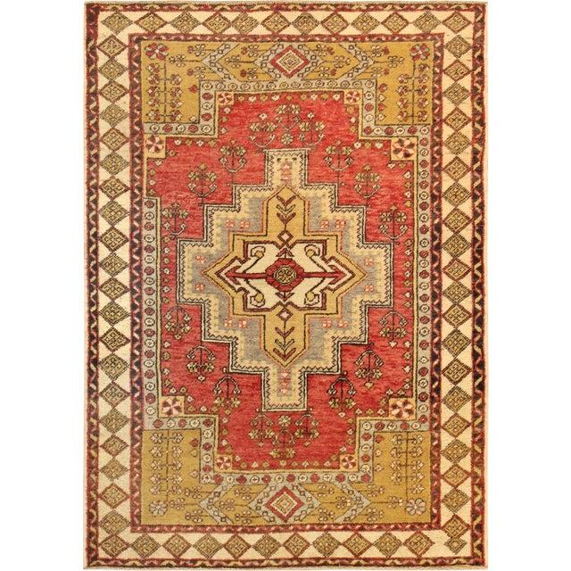 "Vintage Pasargad Oushak Rug - 4' 0"" X 6' 0"" For Sale"