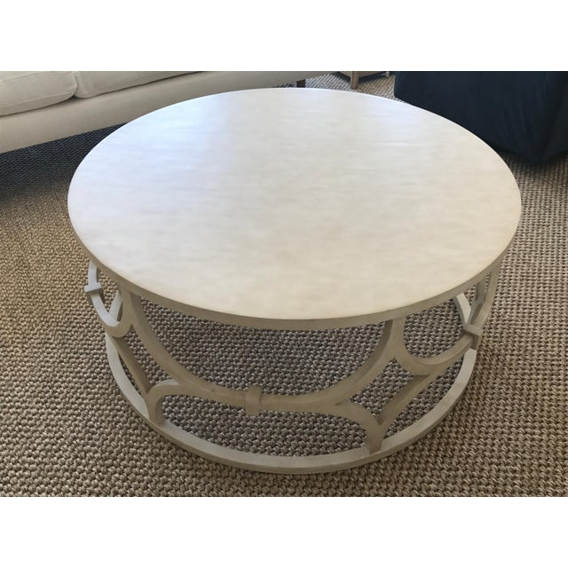 Mr. Brown Antique White Wolfgang Coffee Table - Image 2 of 3