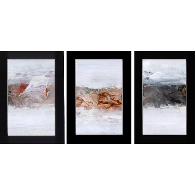 Triptych Modern Abstract Art Paintings - Set of 3 - Image 6 of 6
