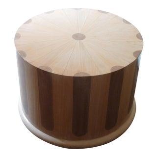 Modern 1970s Beechwood Column Table For Sale