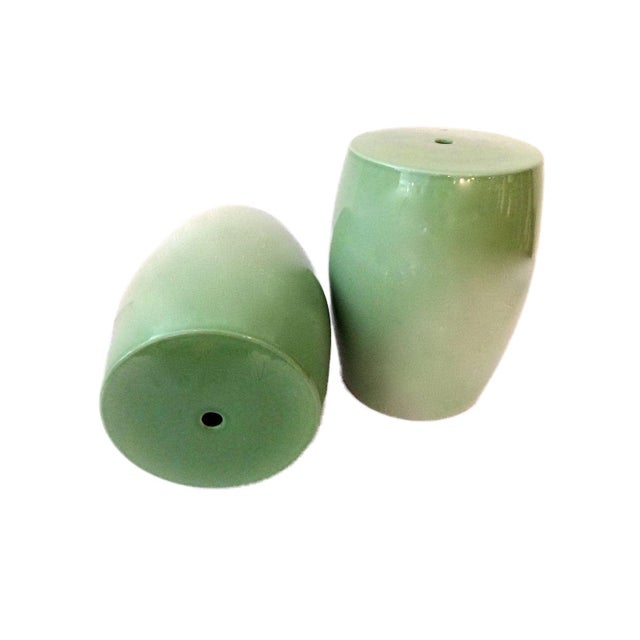 Celadon Garden Stools - A Pair For Sale In New York - Image 6 of 6