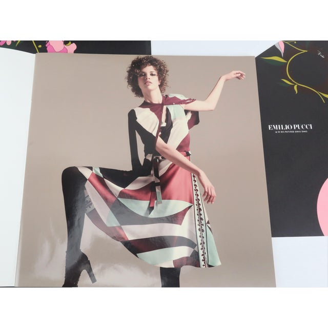Emilio Pucci Winter 2004/2005 Emilio Pucci Long Silk Scarf With Lookbook For Sale - Image 4 of 13