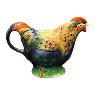 Mid-Century English Rooster Tea Pot For Sale