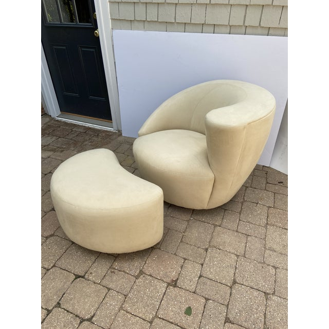 Mid-Century Vladimir Kagan for Weiman Nautilus Chair and Ottoman For Sale - Image 10 of 10