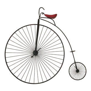 1980s Vintage Curtis Jere Bicycle Wall Sculpture For Sale
