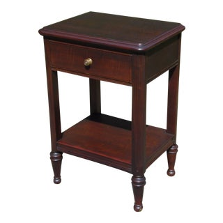 Vintage Federal Style Mahogany Nightstand End Table Bedside Stand Peterson For Sale