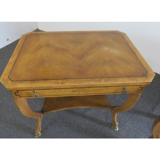 Late 20th Century Pair of Regency Style End Tables For Sale - Image 5 of 13
