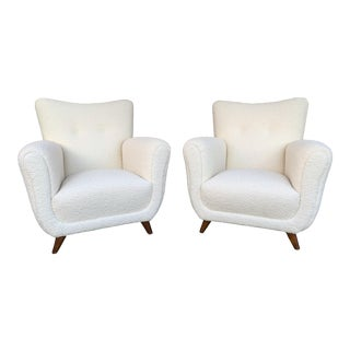 Pair of Armchairs by Guglielmo Ulrich. Italy, 1950s For Sale