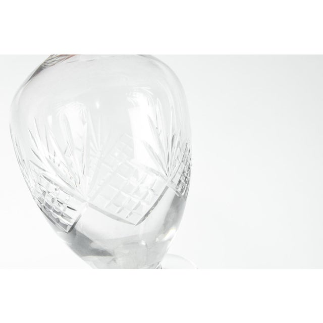 Art Deco Mid Century Cut Crystal Drinks Decanters - a Pair For Sale - Image 3 of 6