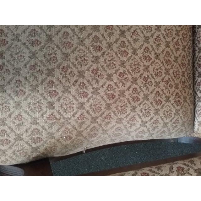 Eastlake Upholstered Victorian Wood Platform Rocking Chair For Sale - Image 9 of 13