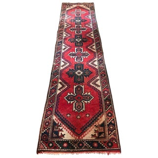 Bold Mid-20th Century Caucasian Kilim Runner For Sale