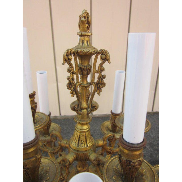 Mid 19th Century Pair French Empire Style Candelabras For Sale - Image 5 of 6