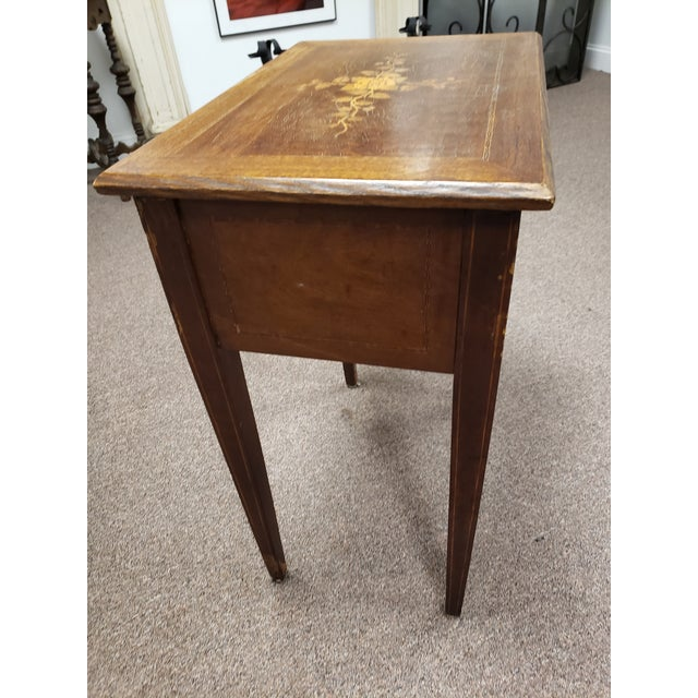 Chestnut Antique 19th Century Inlaid Wooden Dressing/Vanity Table For Sale - Image 8 of 13