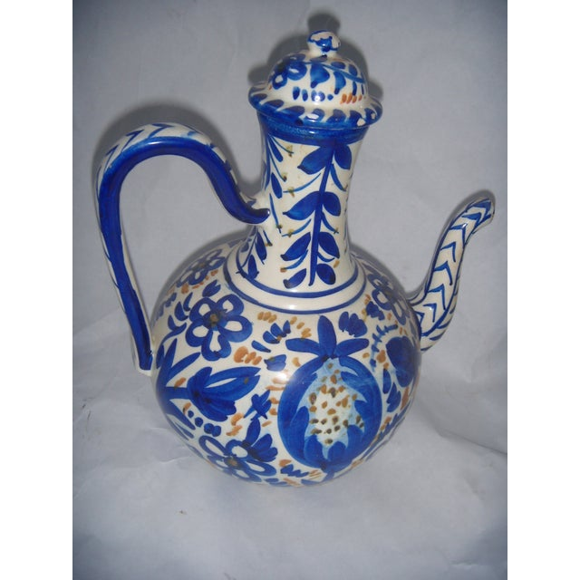 Blue & Gold Hand Painted Teapot - Image 4 of 9