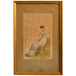 18th Century Framed Fashion Engraving For Sale