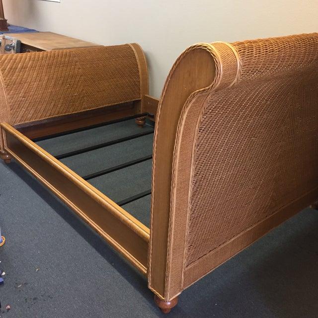 Boho Rattan Amp Woven Wicker Queen Bed Chairish