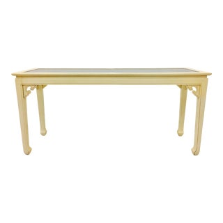 Vintage Mid-Century Modern Asian Style Console Table For Sale