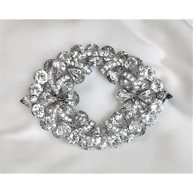 1960s Eisenberg Large Faceted Crystal Brooch For Sale - Image 9 of 9