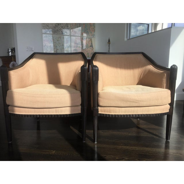 Art Deco Style Lounge Chairs - A Pair - Image 2 of 11