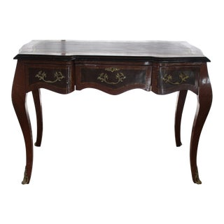 19th Century French Inlay Marquetry Writing Desk For Sale