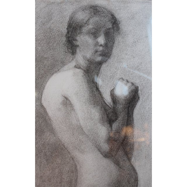 Late 19th Century George Rabb Female Nude Drawing For Sale - Image 5 of 6