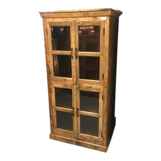 Boho Chic Reclaimed Teak Armoire For Sale