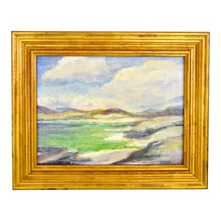 1950s Vintage Isle of Harris Impressionist Seascape Oil Painting For Sale