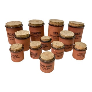 Vintage English Fortnum & Mason Canisters - Set of 12 For Sale