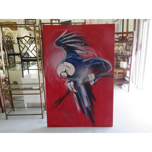 Flying Blue Parrot Original Painting - Image 2 of 6