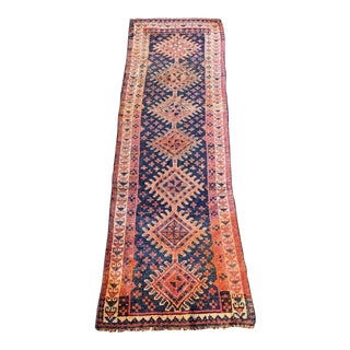 1950s Vintage Kurdish Runner Rug - 3′4″ × 10′10″ For Sale
