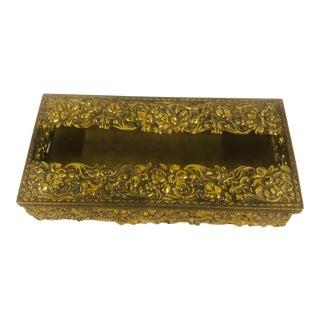 Mid Century Brass Tissue Box For Sale