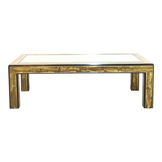 Bernard Rohne Etched Coffee Table by Mastercraft For Sale